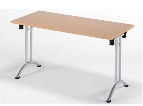 Union Folding Rectangular Table - Silver Frame 1600 x 725 x 800mm