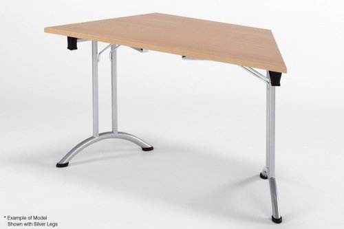 Union Folding Trapezoidal Table - Silver Frame