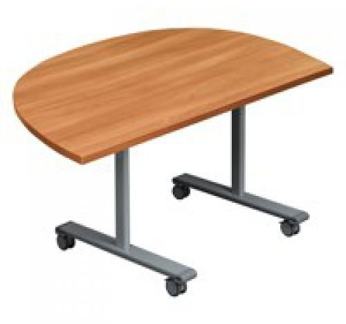 TC Office One Tilting D-End Table 1400 x 720 x 700mm